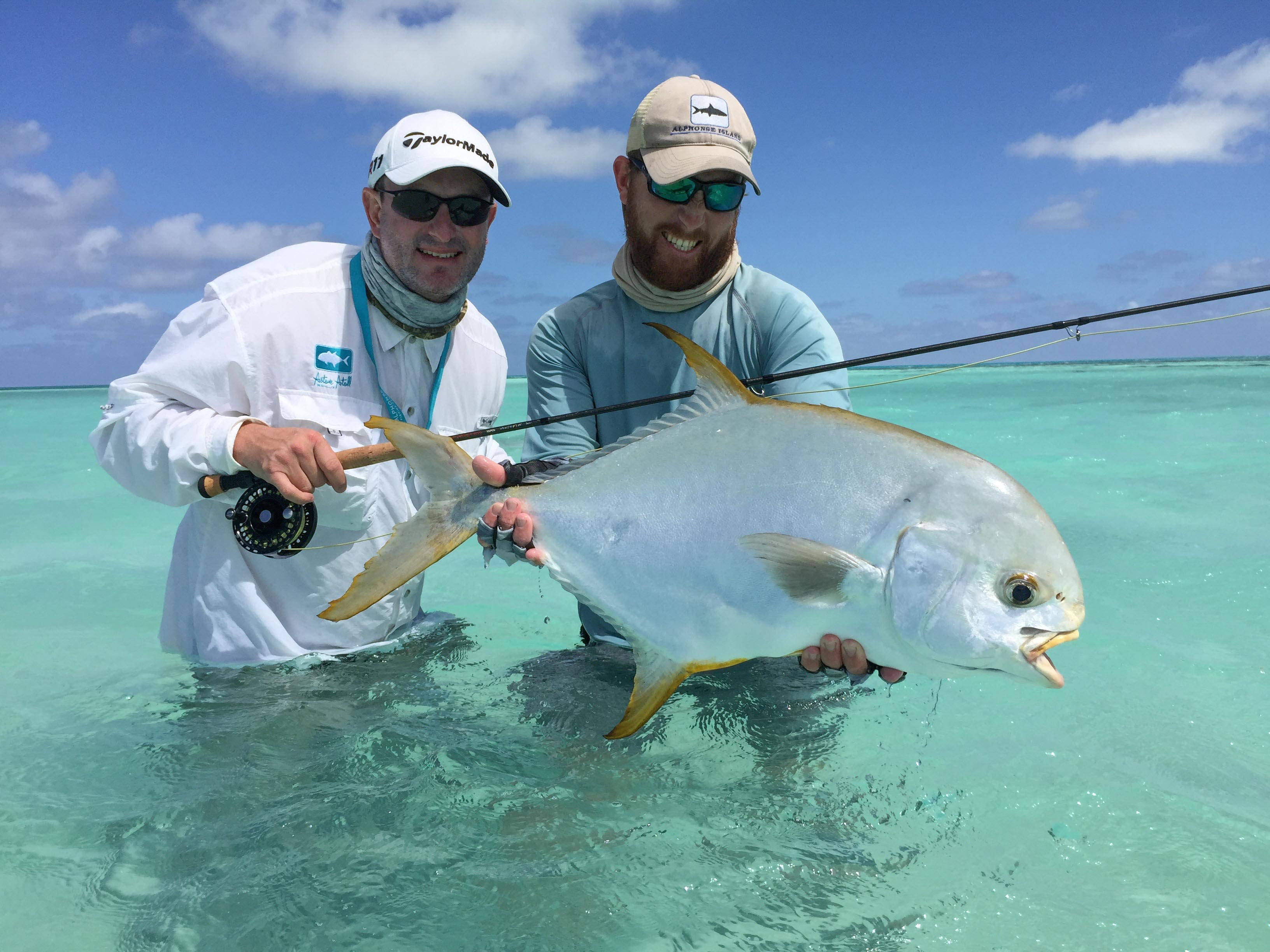 Indo-Pacific permit caught on a fly at Alphonse Island